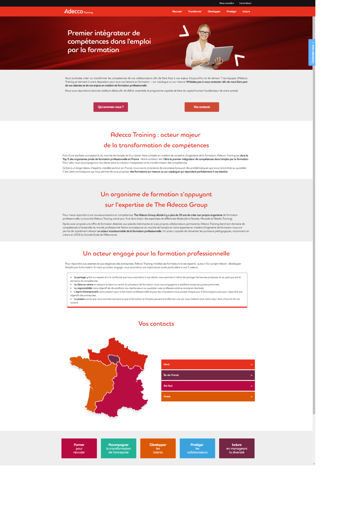 Webmaster, développement front-end